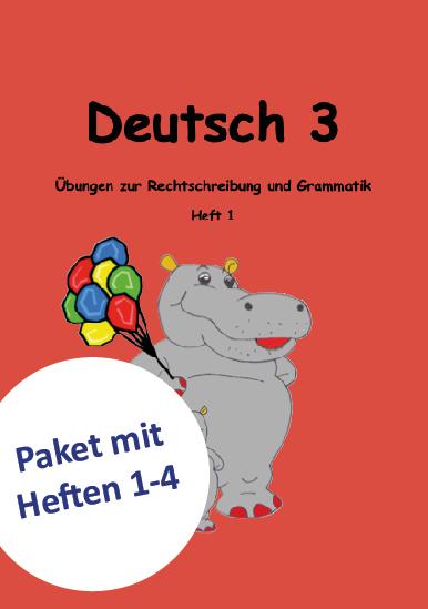 Deutsch Lernheft für das 3. Schuljahr