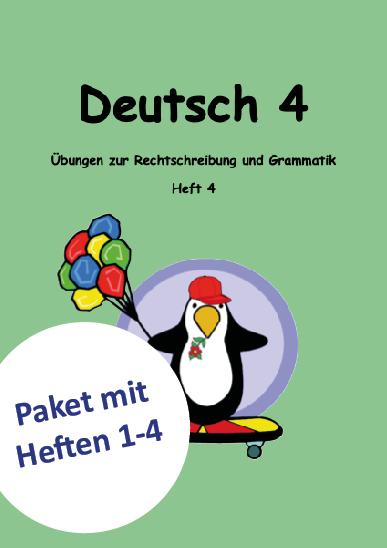 Deutsch Lernheft für das 4. Schuljahr